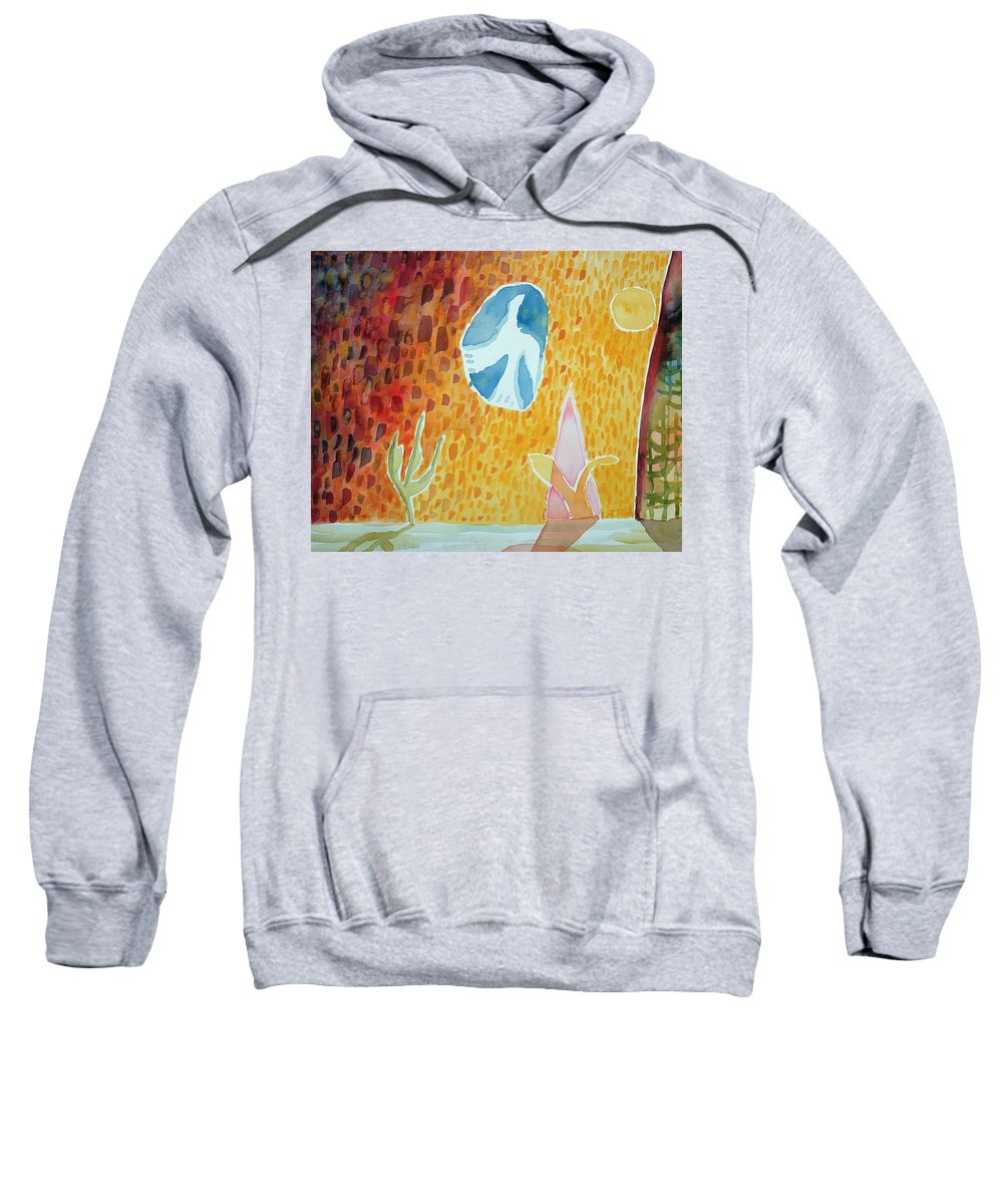 Naive Sweatshirt featuring the photograph Sunburst, 1989 Wc On Paper by Peter Davidson