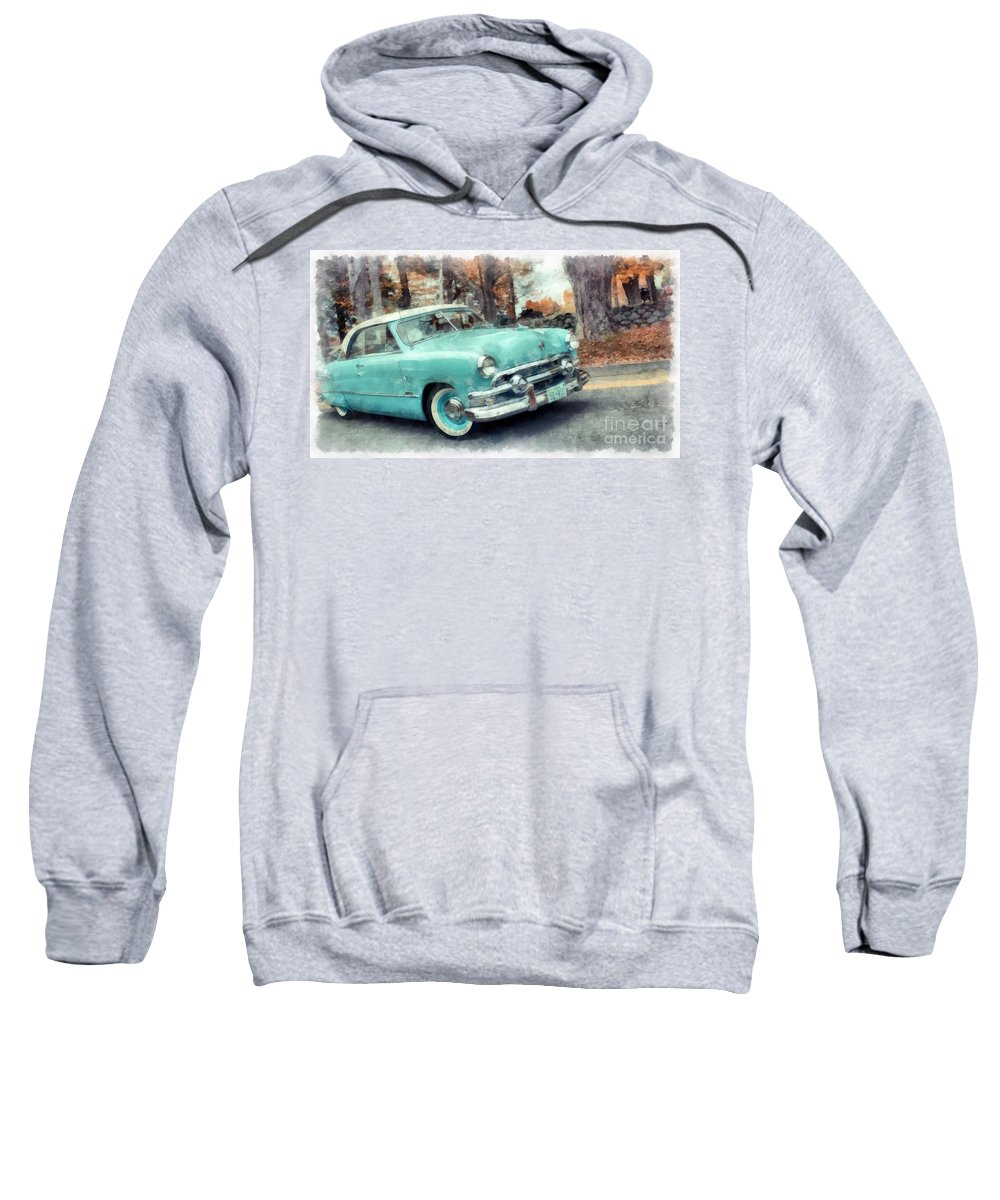 Vintage Sweatshirt featuring the photograph Sunday Drive by Edward Fielding