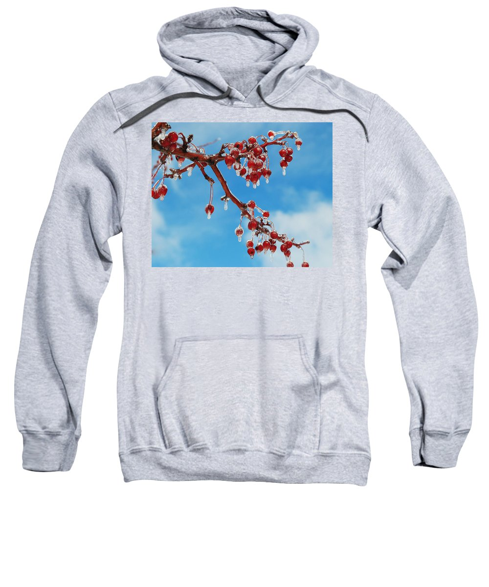 Cherries Sweatshirt featuring the photograph Sunday With Cherries On Top by Frozen in Time Fine Art Photography