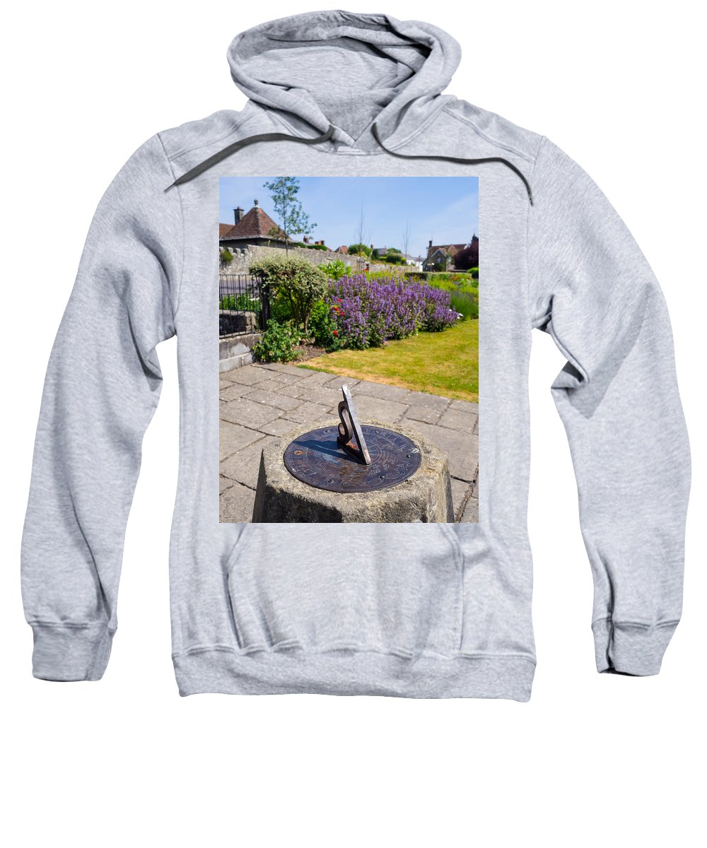 Blue Sweatshirt featuring the photograph Sundial by Mark Llewellyn