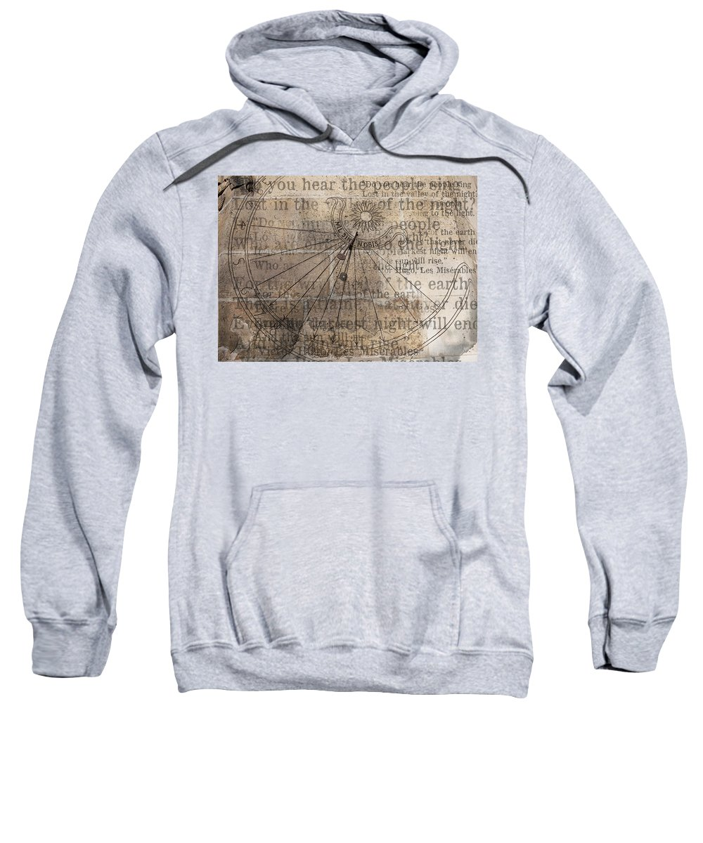 Arch Sweatshirt featuring the photograph Sundial With Les Miz by Evie Carrier