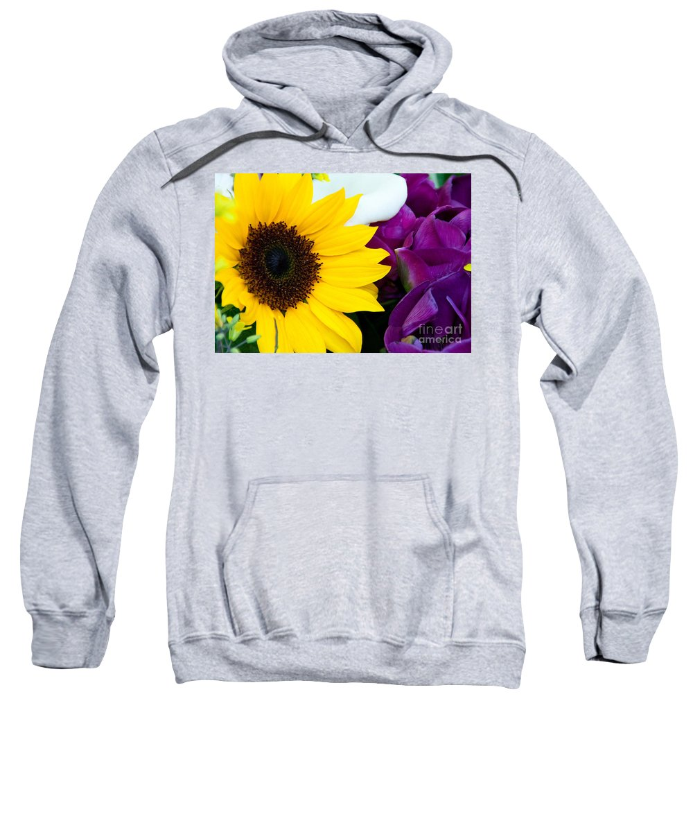 Sunflower Sweatshirt featuring the photograph Sunflower And Company by Dana Kern