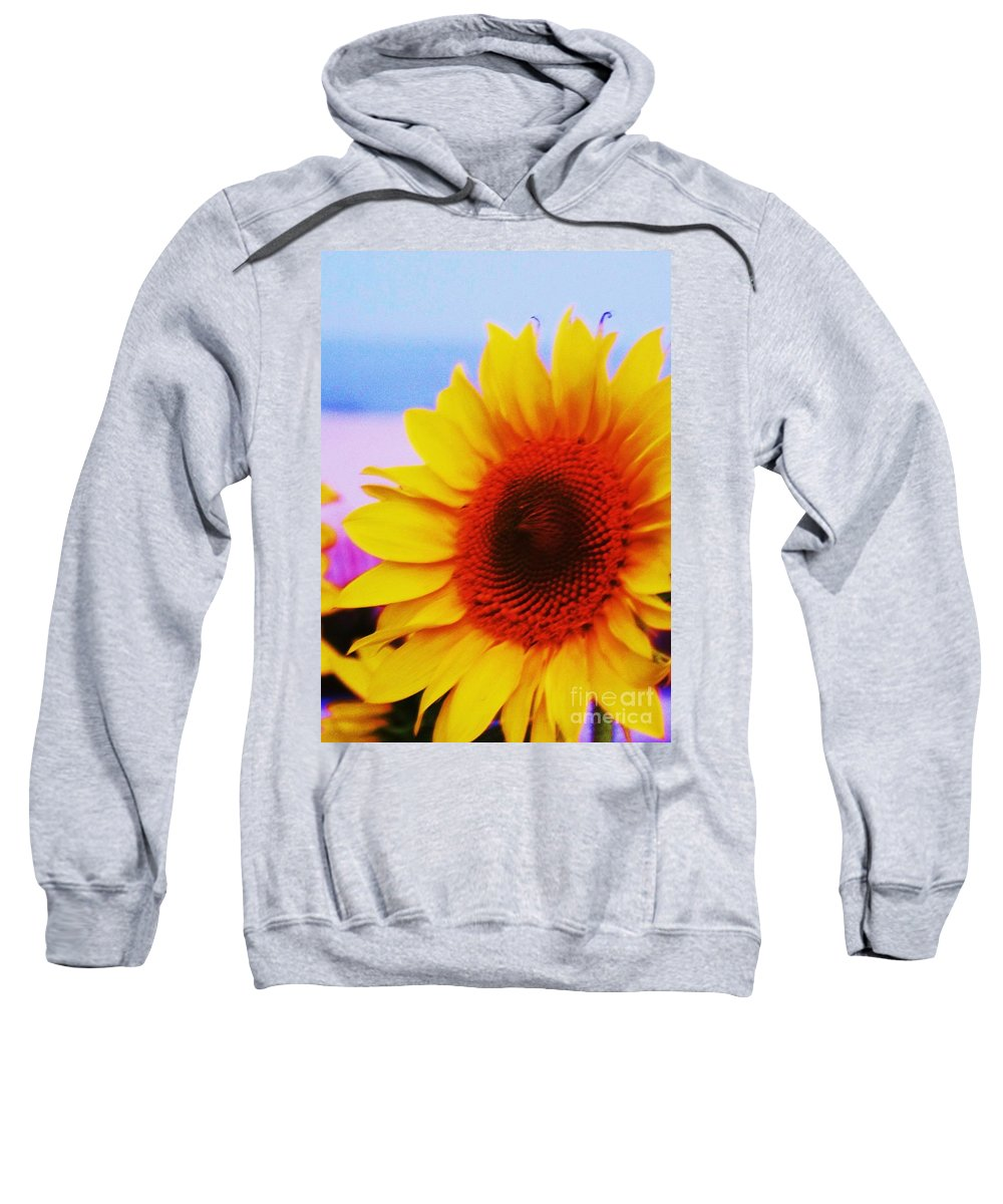 Sunflower Sweatshirt featuring the photograph Sunflower At Beach by Eric Schiabor