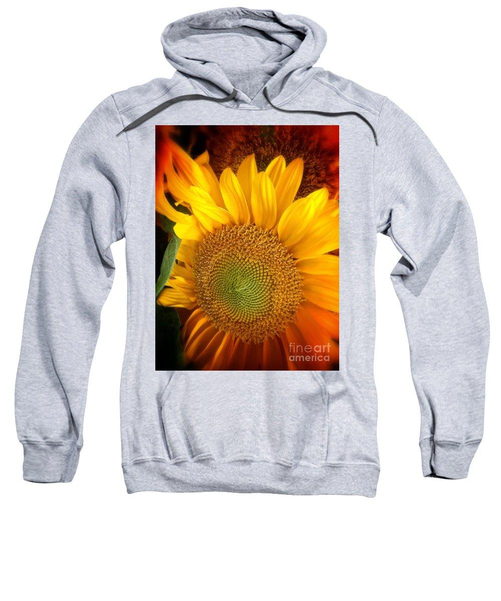 Sunflower Sweatshirt featuring the photograph Sunflower Bright by Susan Garren