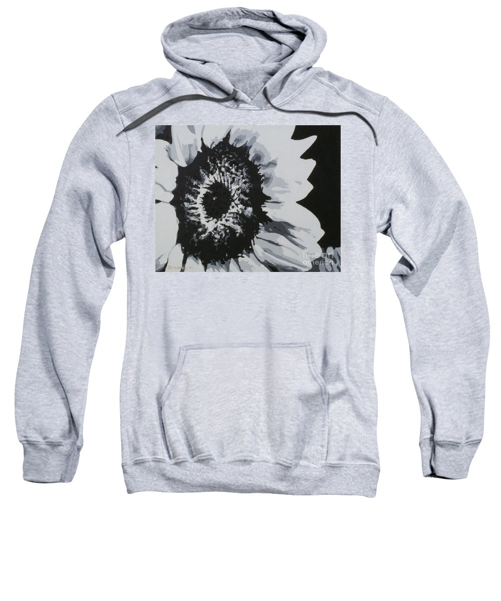 Sunflower Sweatshirt featuring the painting Sunflower by Katharina Filus