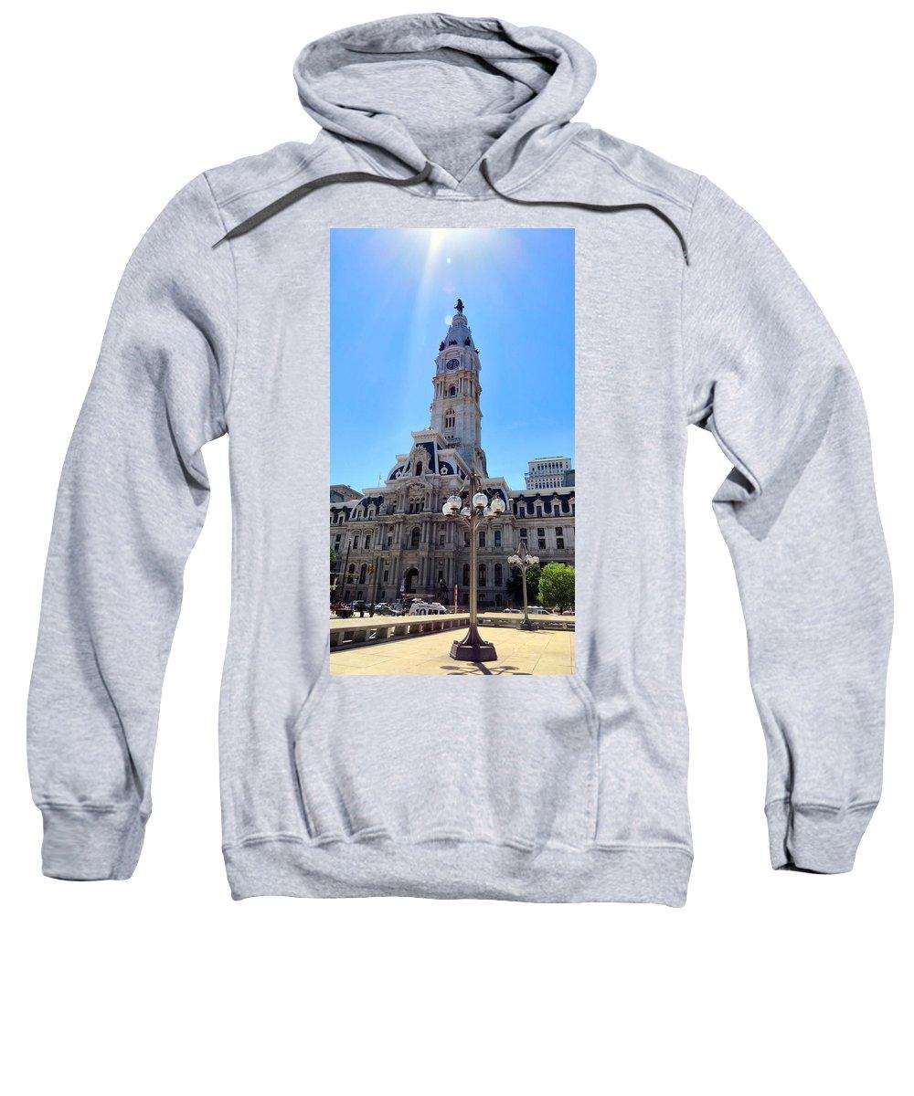 Span Sweatshirt featuring the photograph Sunlight City by Art Dingo