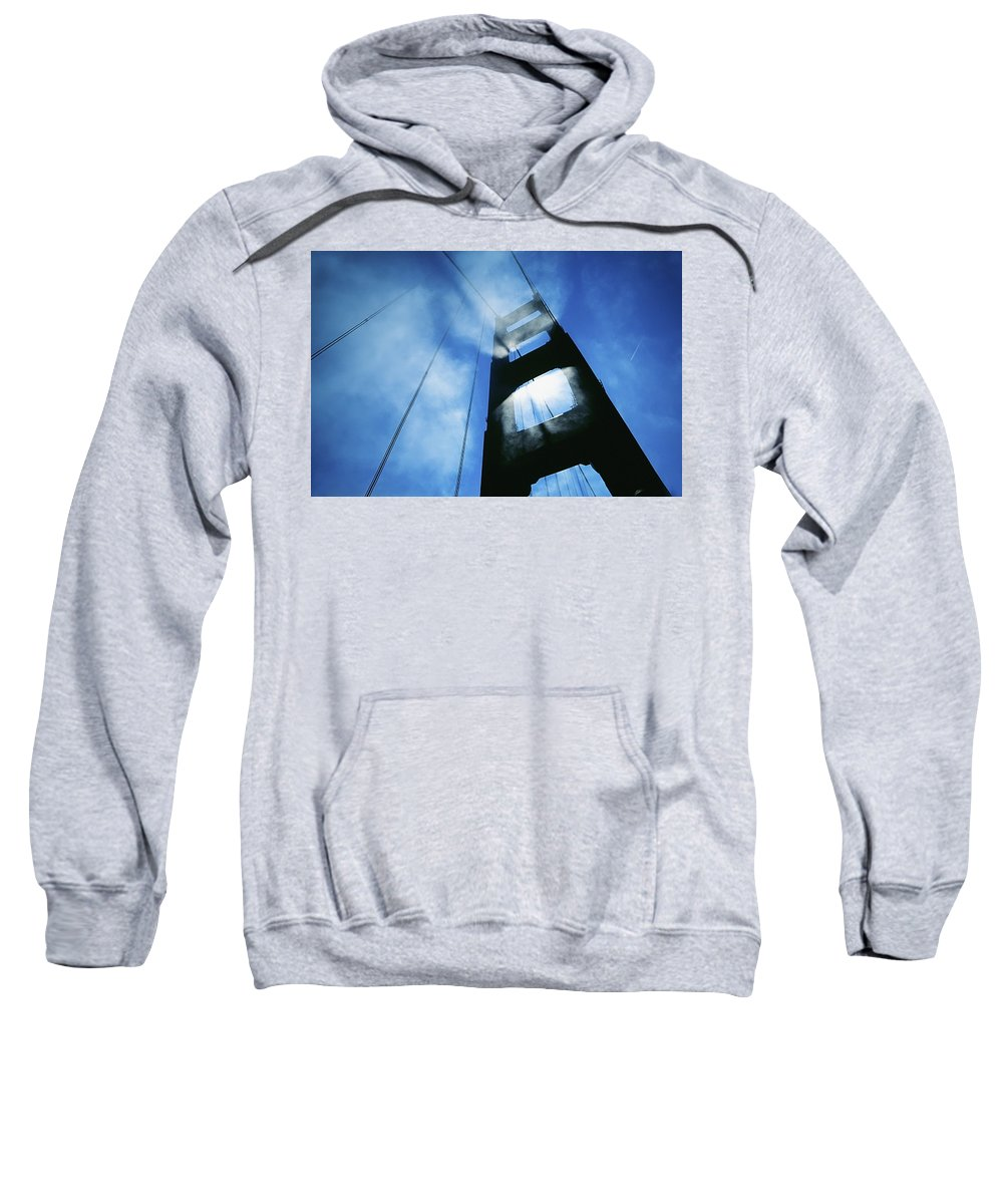 United States Sweatshirt featuring the photograph Sunlight Shining Through Golden Gate by Axiom Photographic