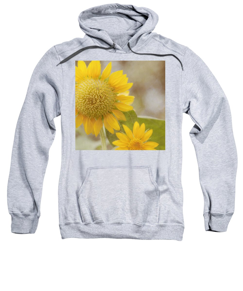 Yellow Flower Sweatshirt featuring the photograph Sunny Side Up by Kim Hojnacki