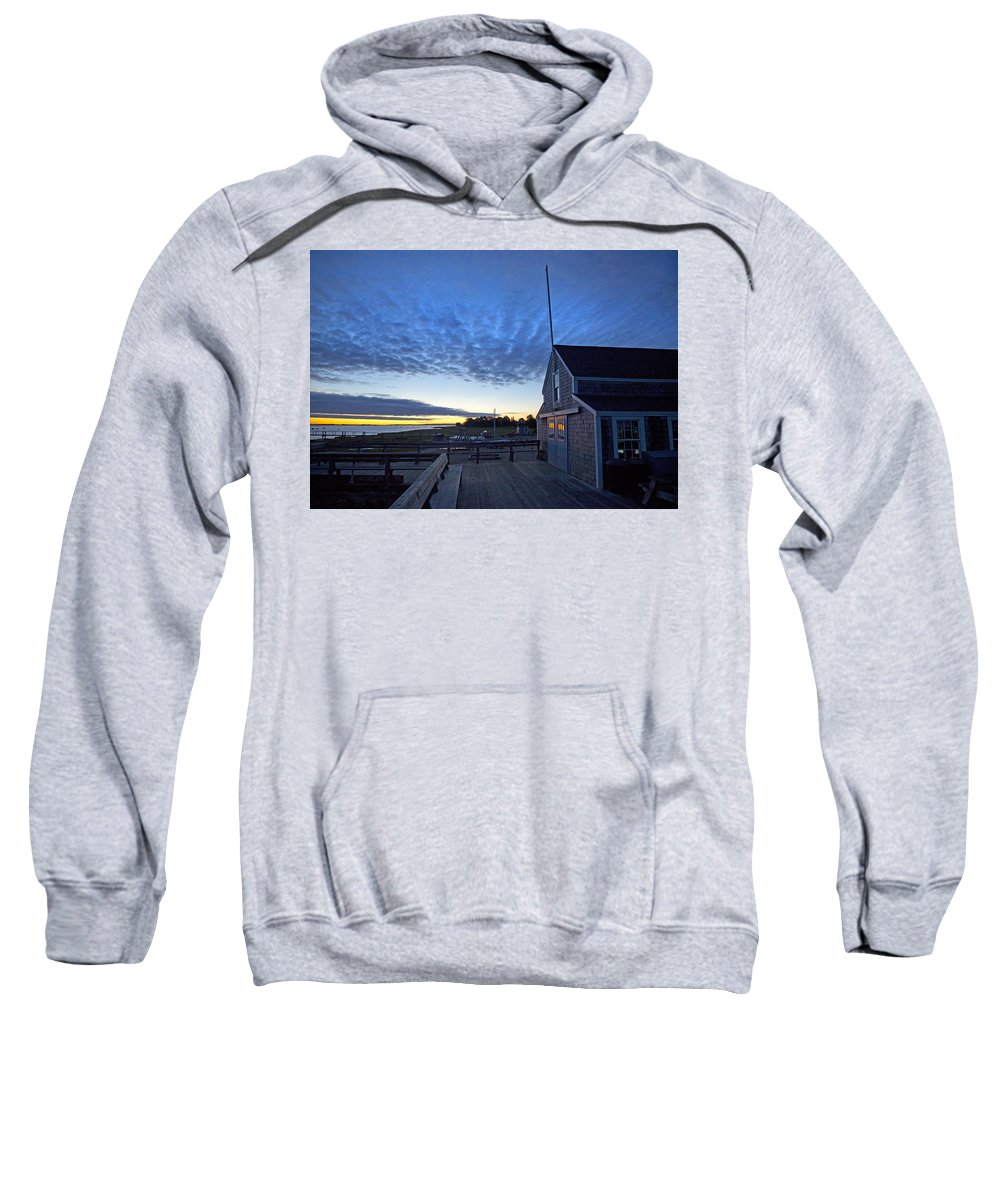 Barnstable Sweatshirt featuring the photograph Sunrise At Barnstable Yacht Club by Charles Harden
