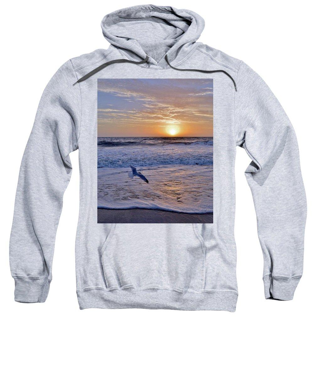 Sunrise Sweatshirt featuring the photograph Sunrise Flight by Kim Bemis