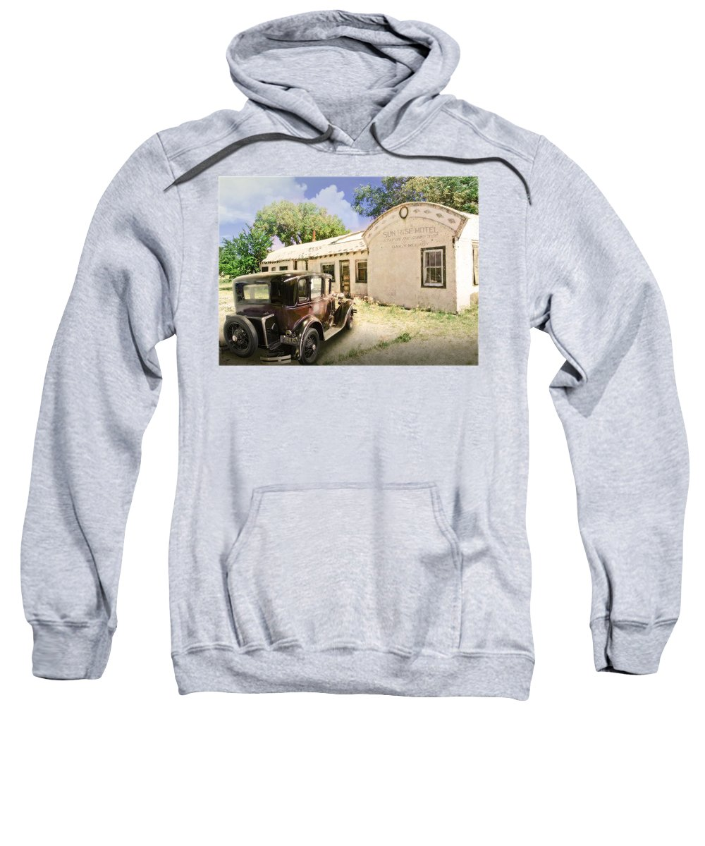 Motel Sweatshirt featuring the photograph Sunrise Motel by John Anderson