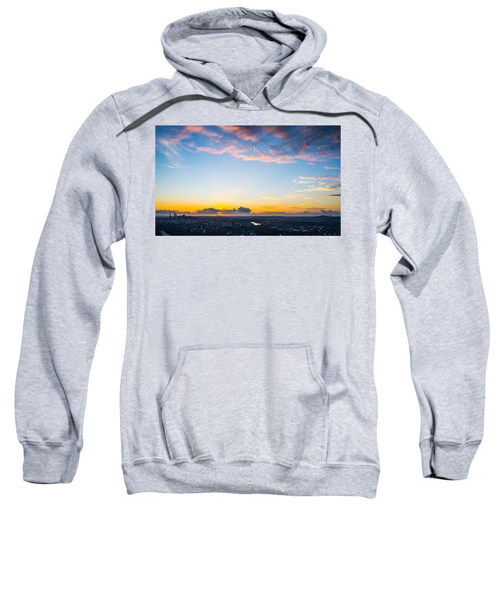 Brisbane Sweatshirt featuring the photograph Sunrise On The Horizon by Parker Cunningham