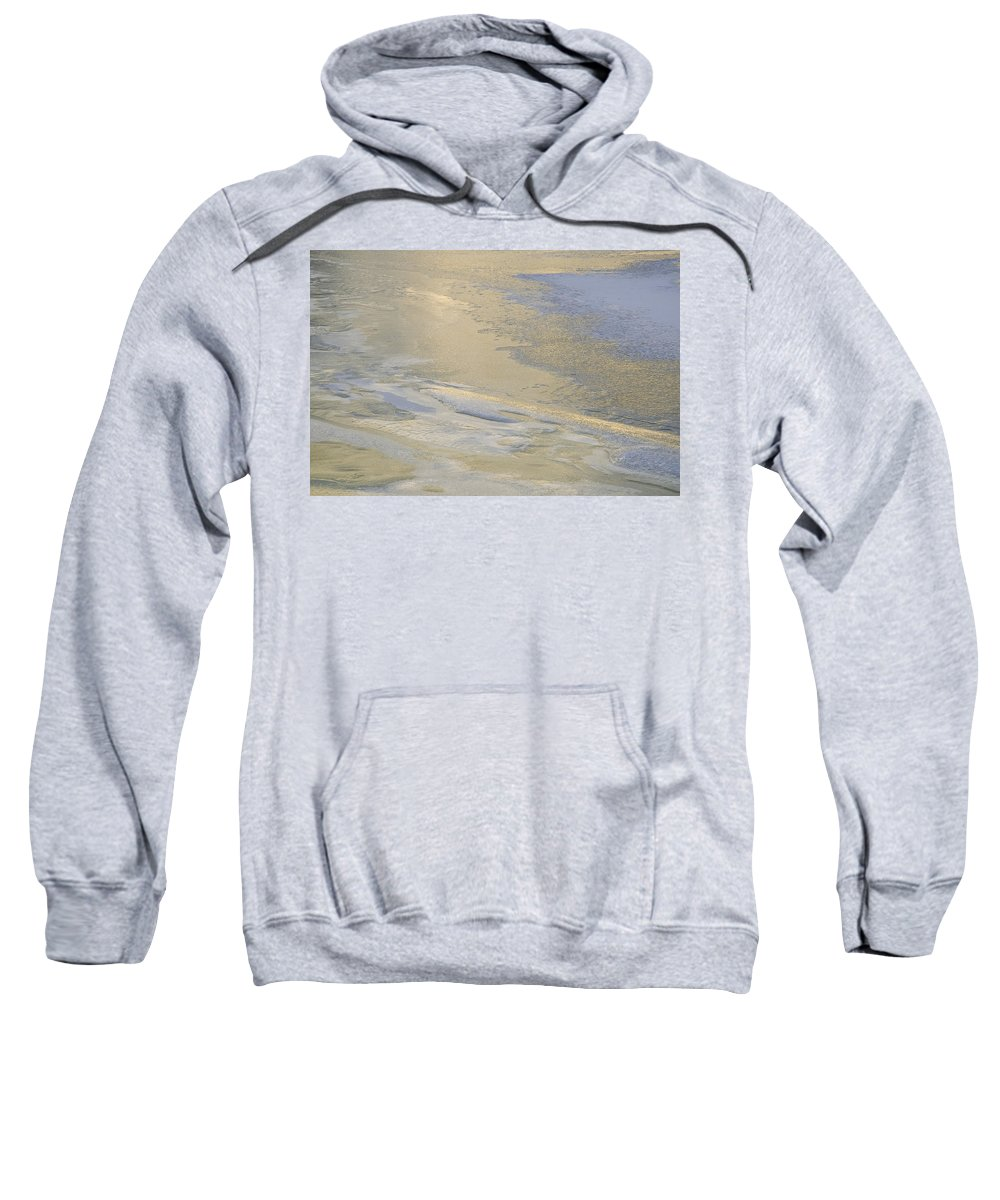 Ice Sweatshirt featuring the photograph Sunrise On The River Ice #2 by David Stone