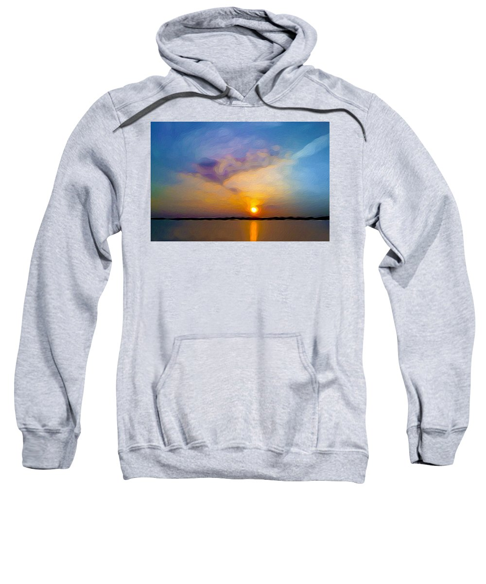 Sunset Sweatshirt featuring the painting Sunset 1 by Tom Kostro