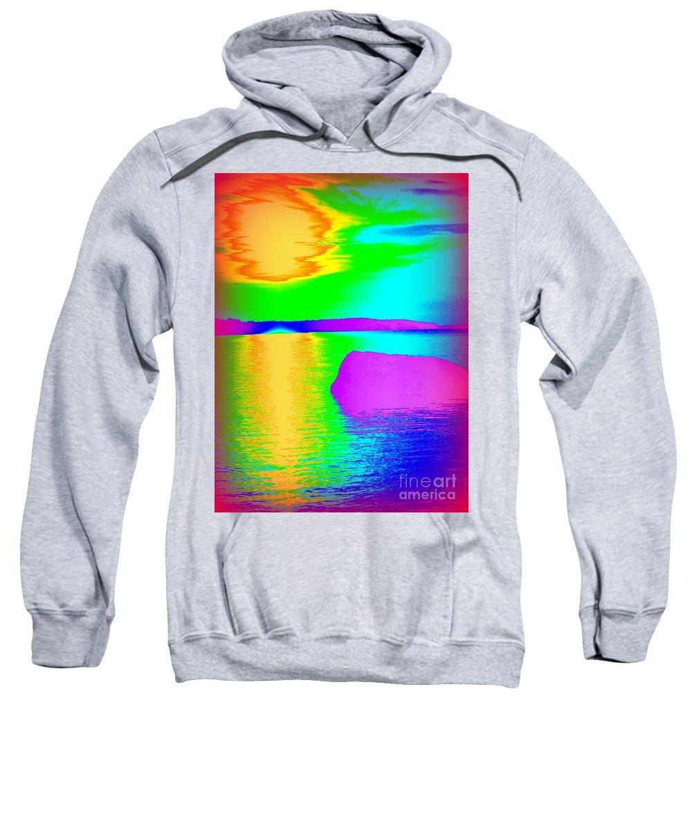 Pop Art Sweatshirt featuring the photograph Sunset Abstract by Ed Weidman