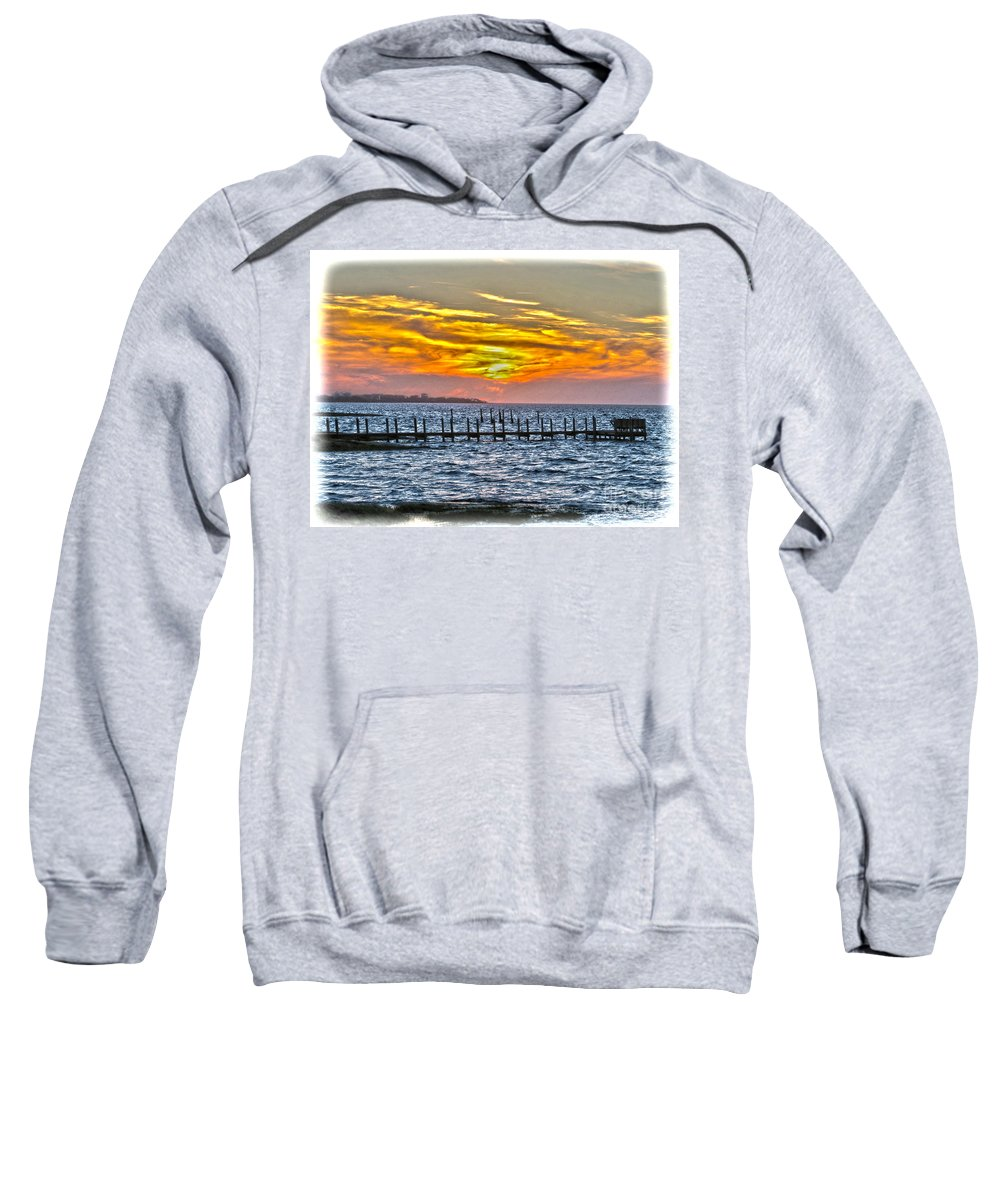 Sunset Sweatshirt featuring the photograph Sunset Art Outer Banks by Dawn Gari