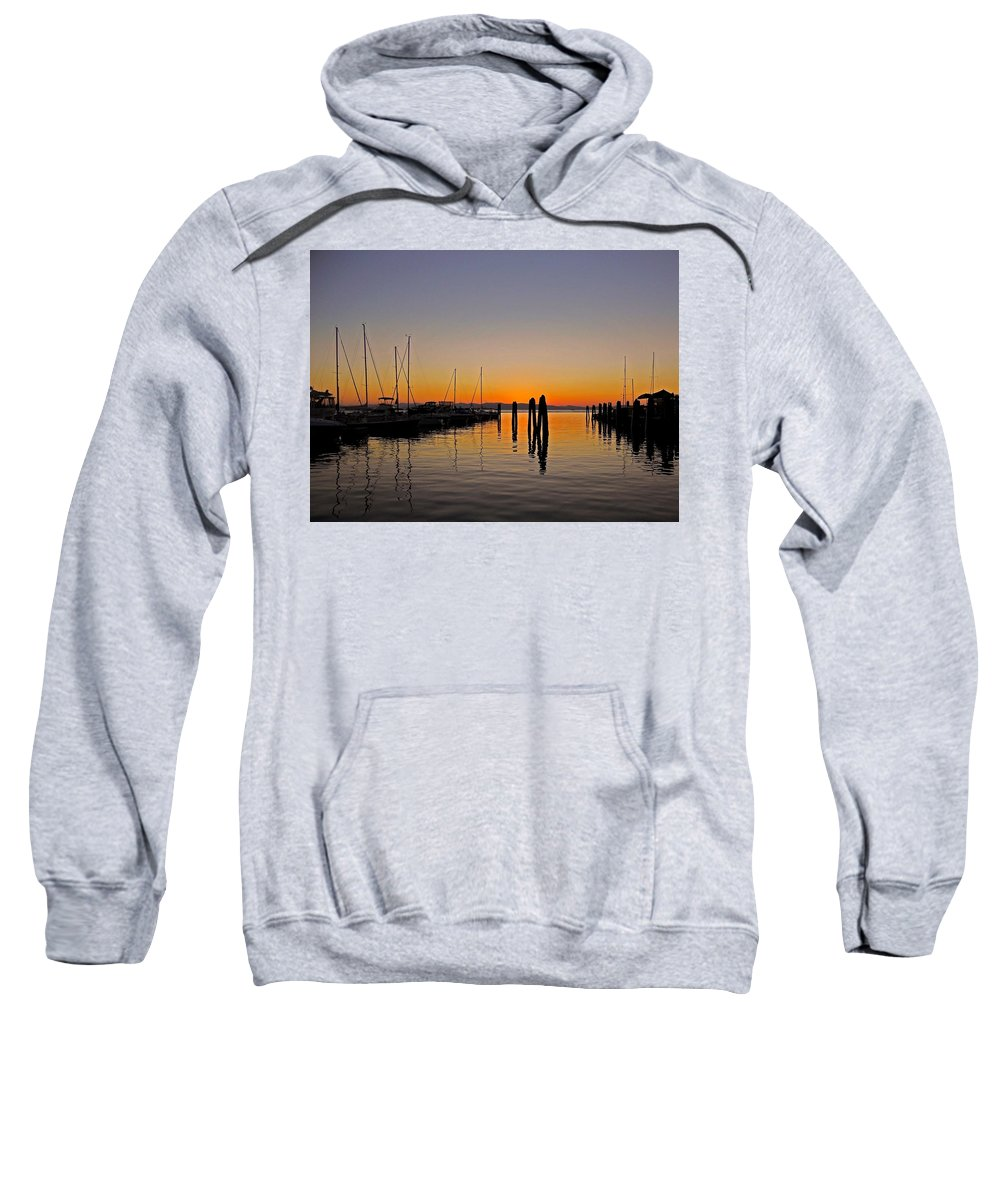 North America Sweatshirt featuring the photograph Sunset At Burlington Bay - Vermont by Juergen Weiss