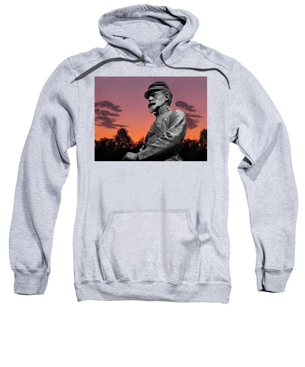 Civil War Sweatshirt featuring the photograph Sunset At Gettysburg by David Dehner