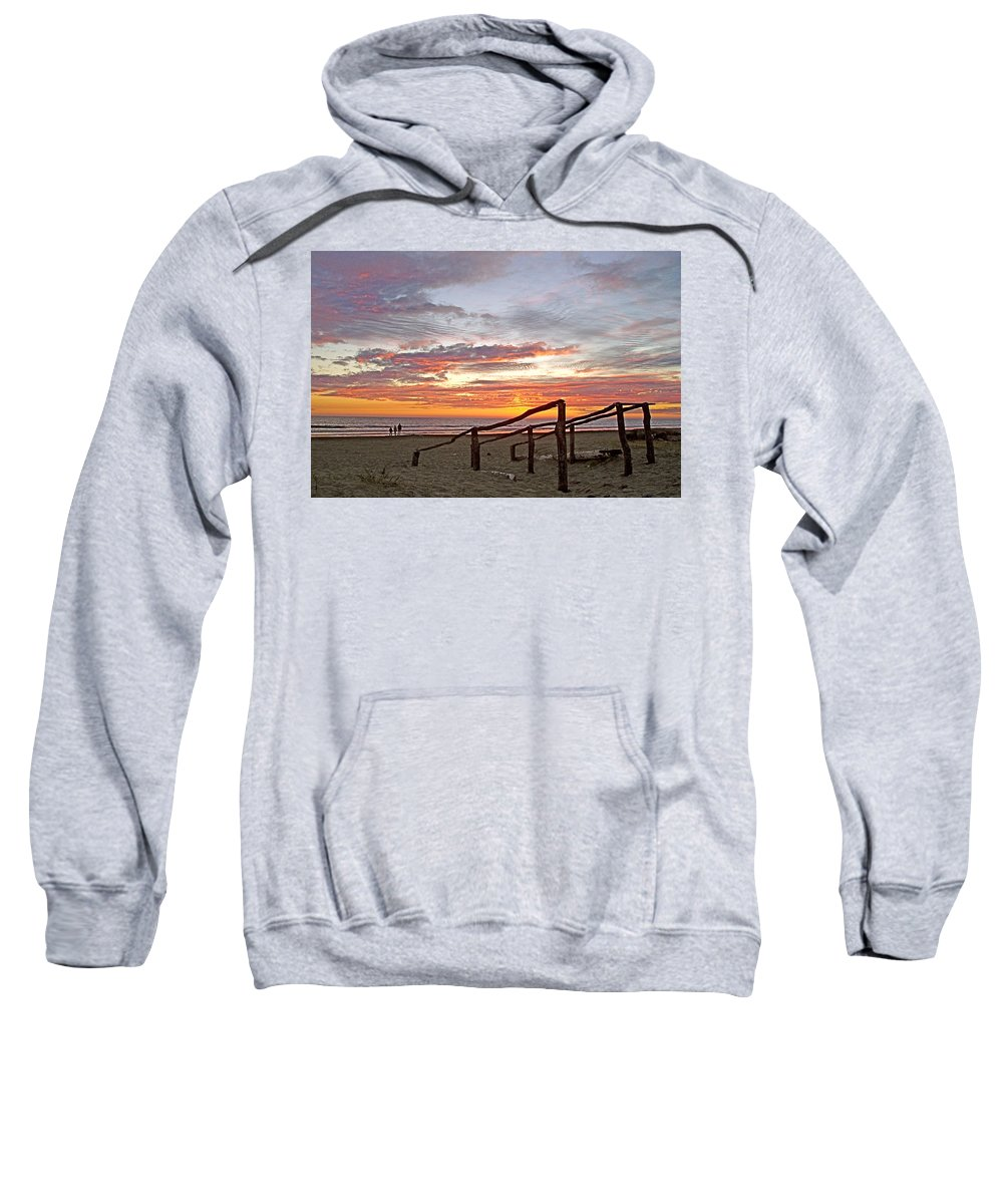 Sunset At Las Glorias Over Sea Of Cortez In Sinaloa Sweatshirt featuring the photograph Sunset At Las Glorias Over Sea Of Cortez-sinaloa by Ruth Hager