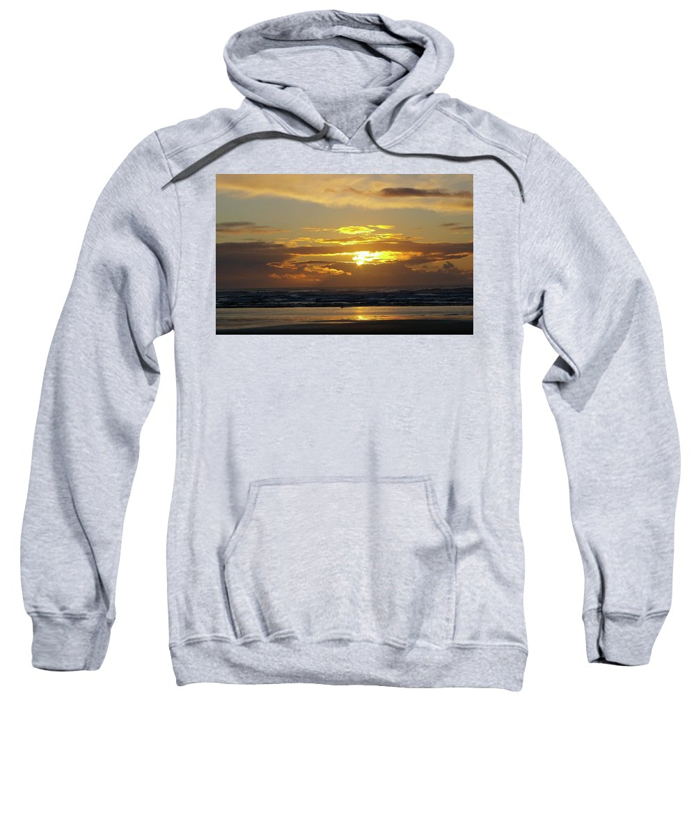 Ocean Sweatshirt featuring the photograph Sunset At Westport by Jeff Swan