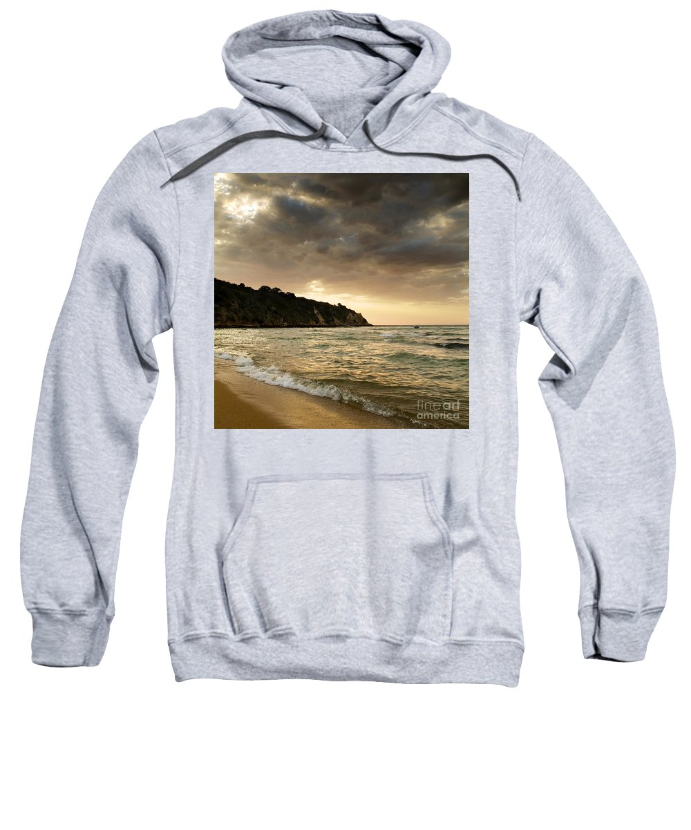 Travel Sweatshirt featuring the photograph Sunset Beach by Tim Hester