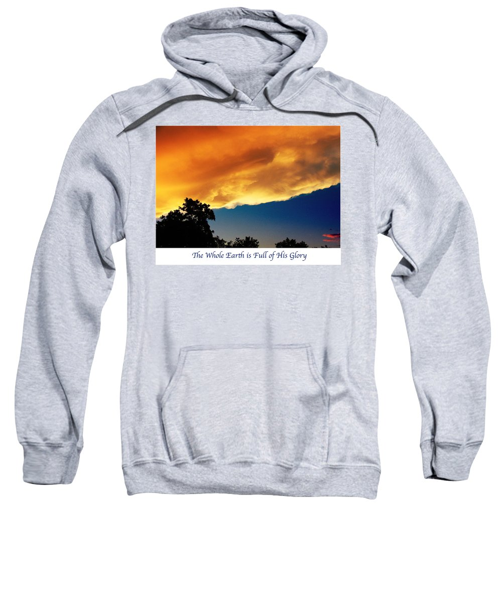 #sky Sweatshirt featuring the photograph Sunset by Debbie Nobile