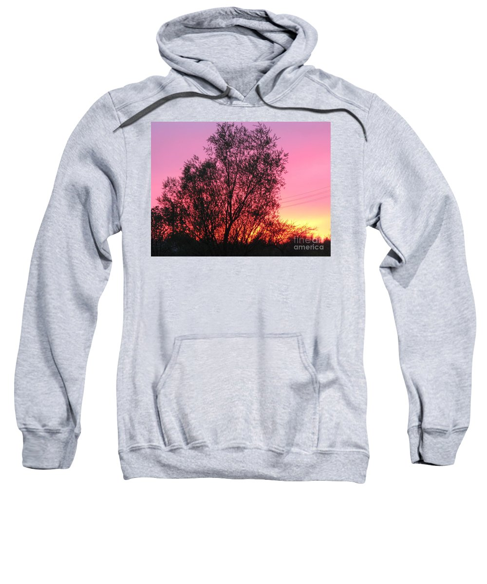 Sunset Sweatshirt featuring the photograph Sunset In April- Silute Lithuania by Ausra Huntington nee Paulauskaite