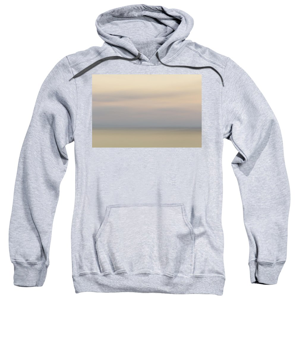Abstract Photography Sweatshirt featuring the photograph Misty Sunset by Aleksandra Moroz