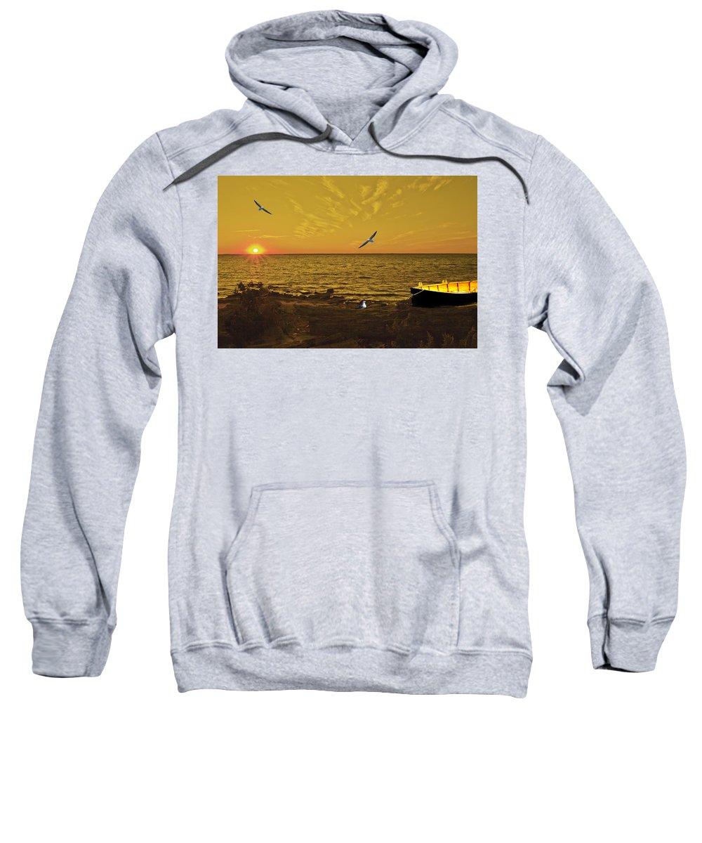 Hamburg Sweatshirt featuring the photograph Sunset by Jim Markiewicz