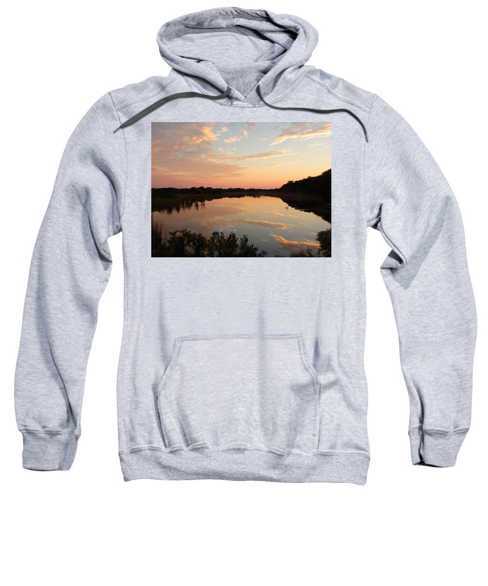 Landscape Sweatshirt featuring the photograph Sunset On Sandpiper Pond by Gary Creson
