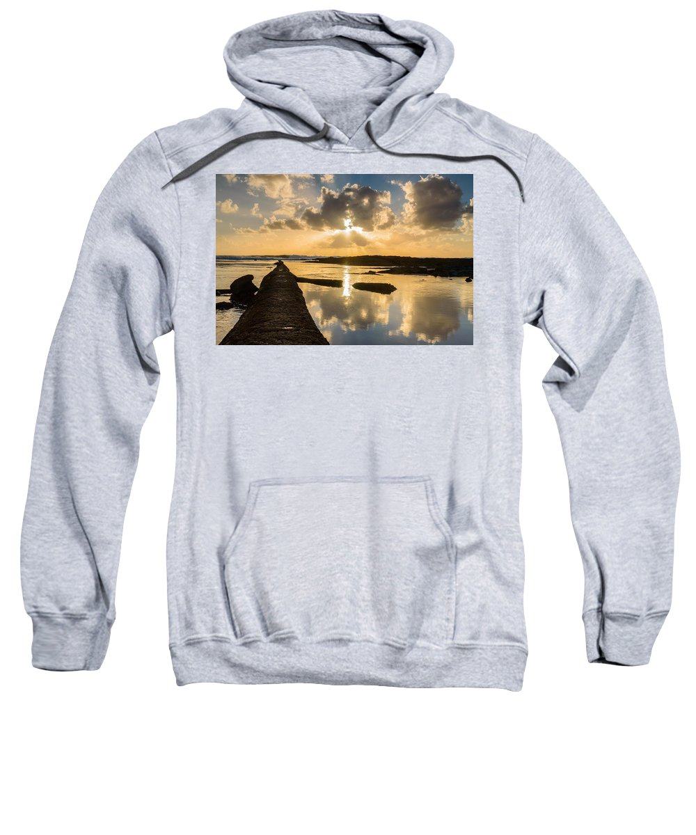 Sea Sweatshirt featuring the photograph Sunset Over The Ocean I by Marco Oliveira