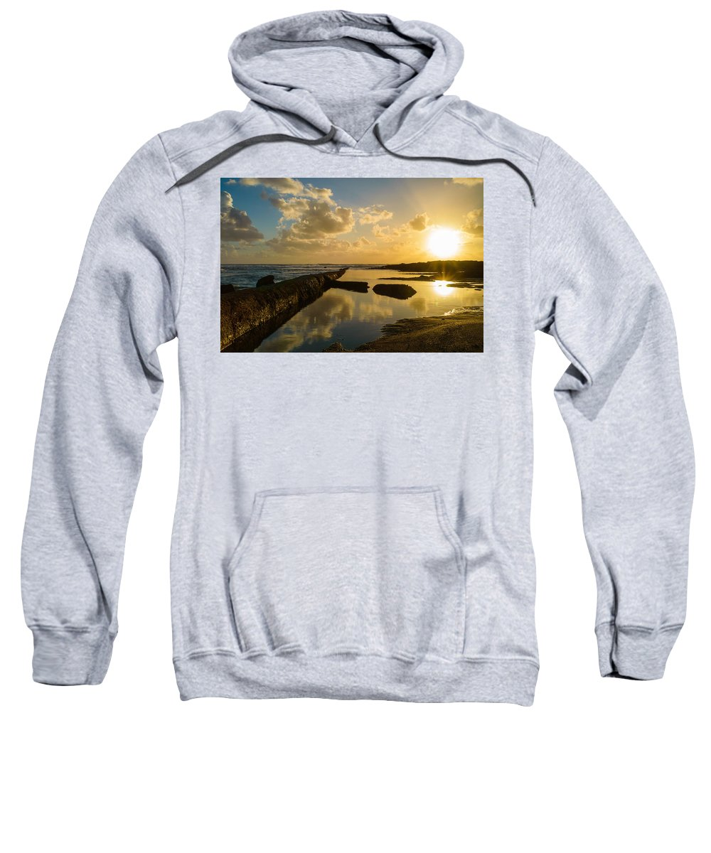 Sea Sweatshirt featuring the photograph Sunset Over The Ocean II by Marco Oliveira