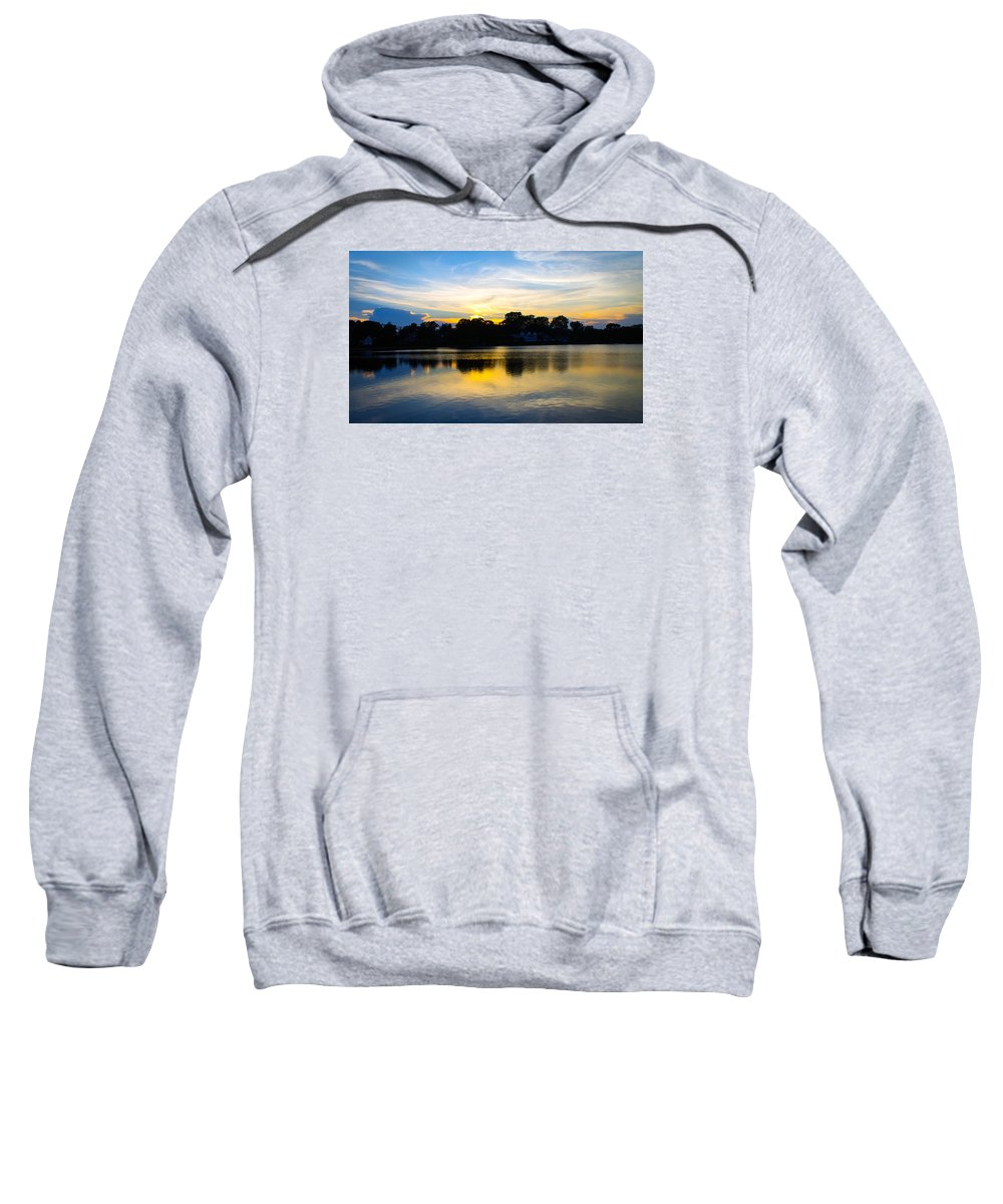 Sunset Sweatshirt featuring the photograph Sunset Reflections by Nicole Jeffery