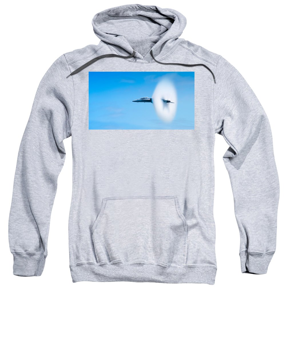 F18 Sweatshirt featuring the photograph Super Sonic by Sebastian Musial