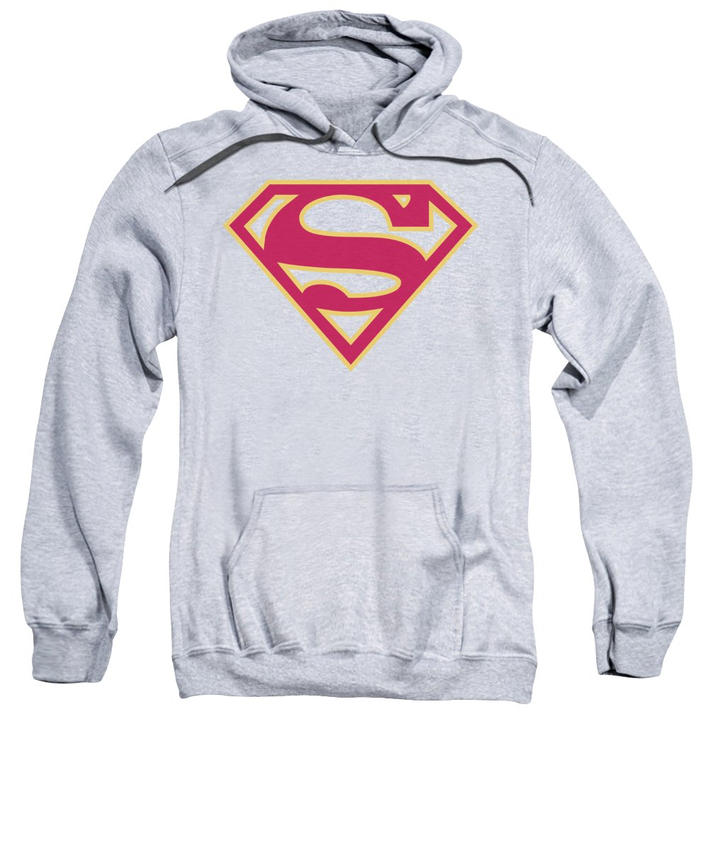 Superman Sweatshirt featuring the digital art Superman - Red And Gold Shield by Brand A