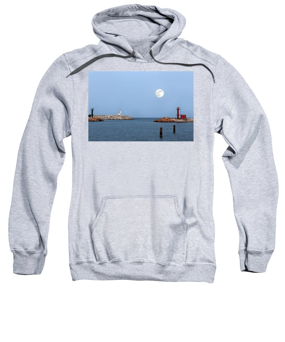 Moon Sweatshirt featuring the photograph Supermoon by Paul Fell
