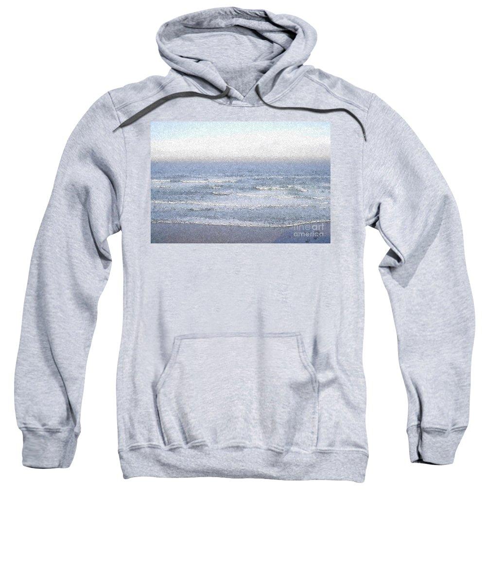 Water Sweatshirt featuring the photograph Surf by Flamingo Graphix John Ellis