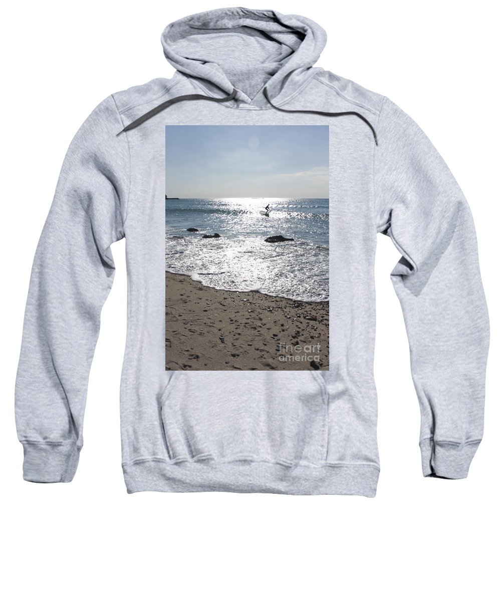 Cornwall Sweatshirt featuring the photograph Surfing Mercury by Terri Waters