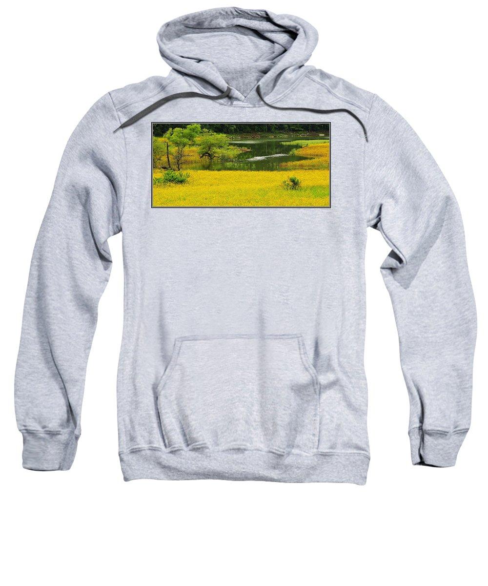 Landscape Sweatshirt featuring the photograph Susans Gold Pond by Kathy Barney