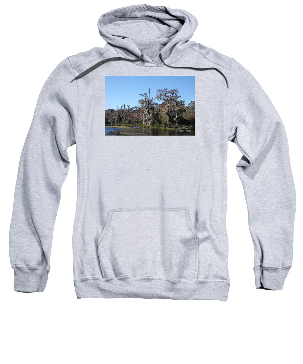 Swamp Sweatshirt featuring the photograph Swamp Serenity by Christiane Schulze Art And Photography