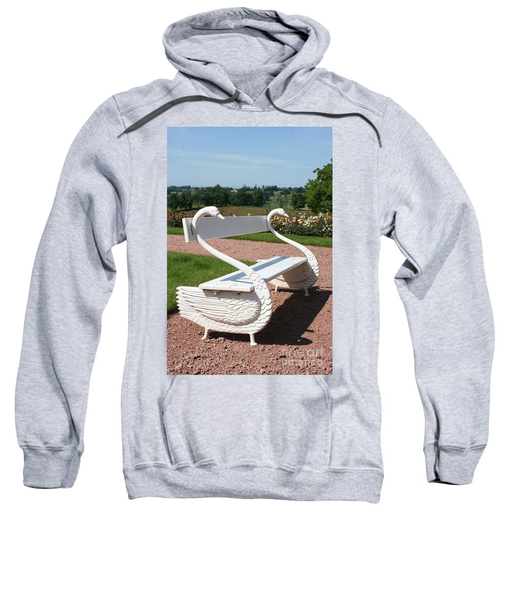 Swan Sweatshirt featuring the photograph Swan Bench by Christiane Schulze Art And Photography