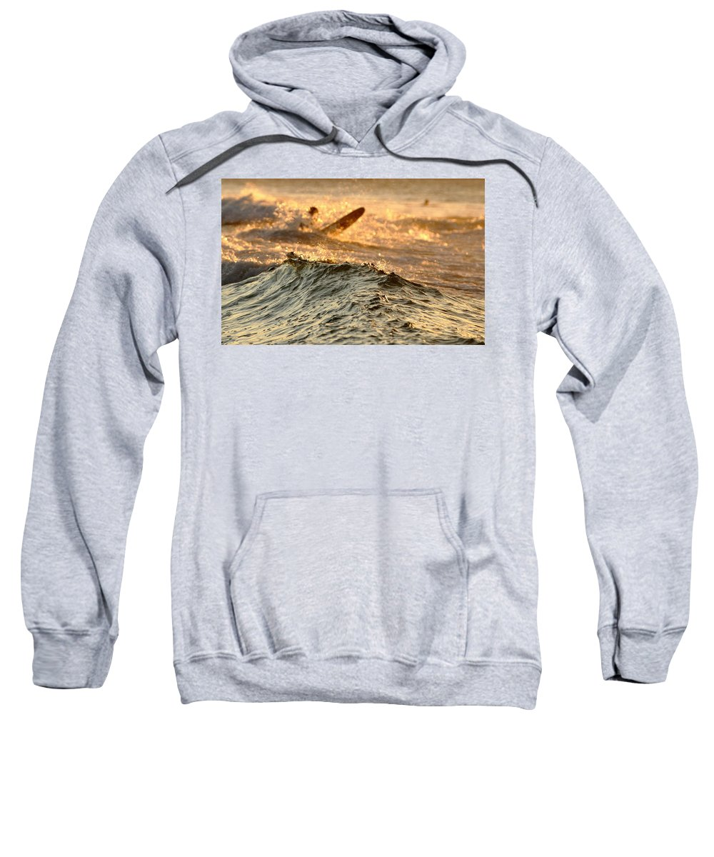 Beach Sweatshirt featuring the photograph Swell by Howard Ferrier