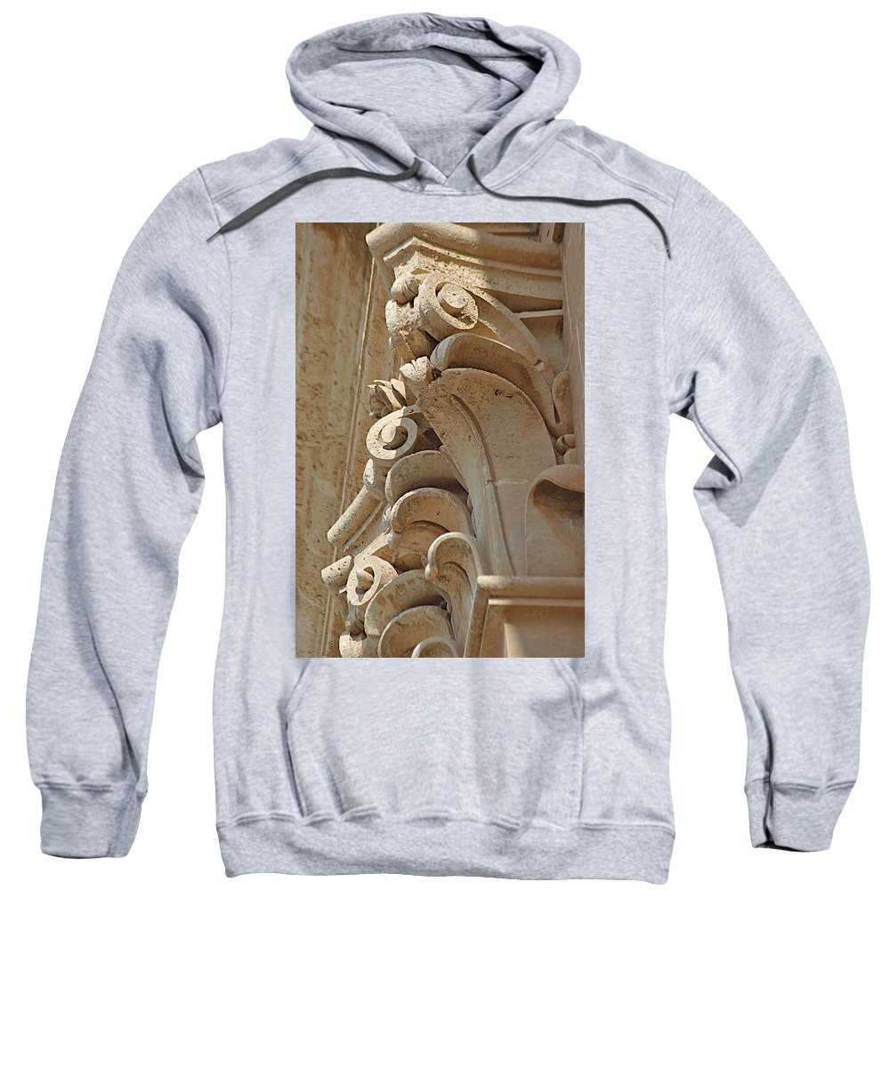 Carved Stone Sweatshirt featuring the photograph Sword's Power by Joseph Yarbrough