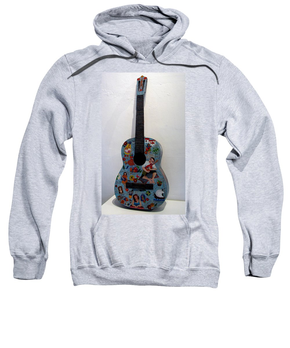Guitar Sweatshirt featuring the painting Symphony Of Colors by Madalena Lobao-Tello