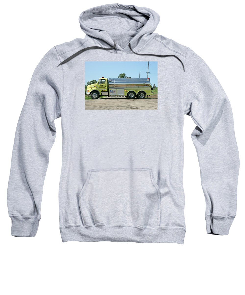 Fire Service Sweatshirt featuring the photograph T-6 Monticello by Susan McMenamin