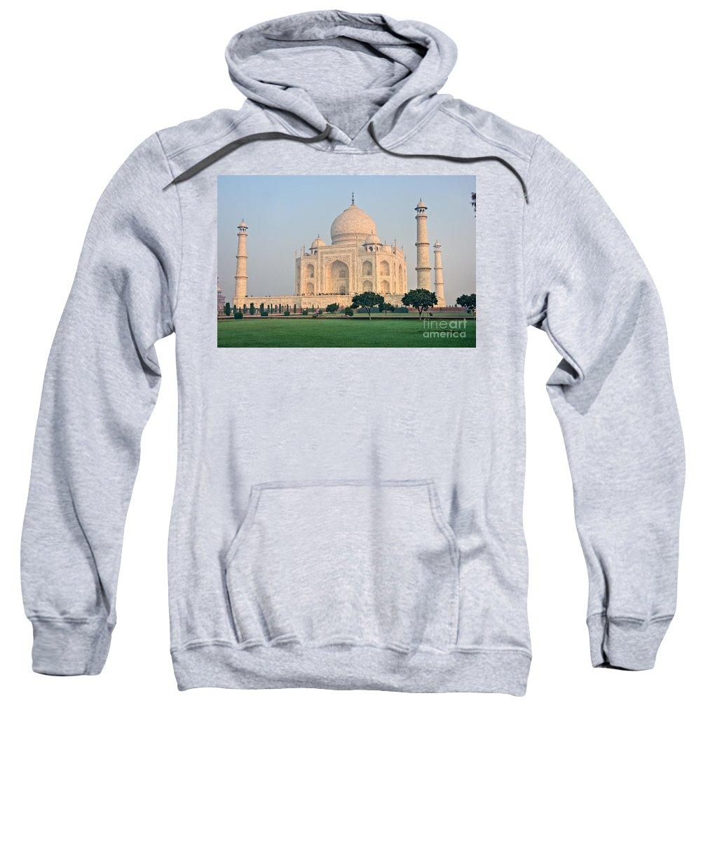 � Adventure Sweatshirt featuring the photograph Taj Mahal At Sunrise - Agra - Uttar Pradesh - India by Luciano Mortula