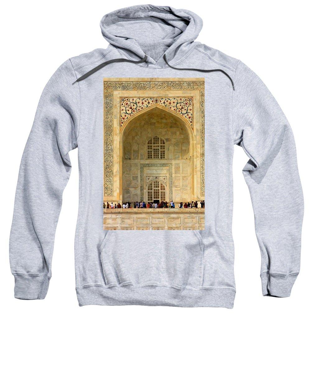 Taj Mahal Sweatshirt featuring the photograph Taj Mahal Close Up by Amanda Stadther