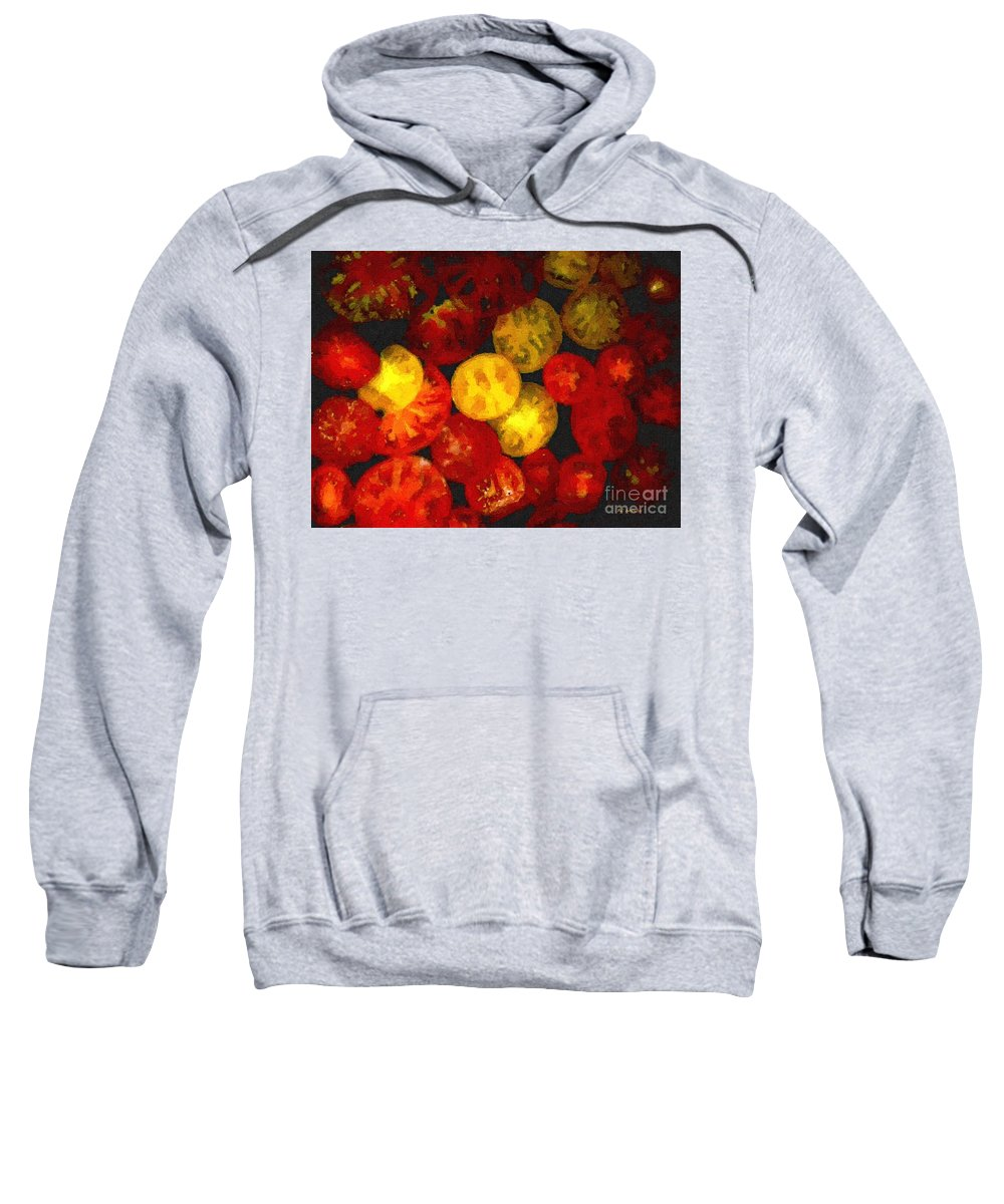 Tomatoes Sweatshirt featuring the painting Take Your Pick by RC DeWinter