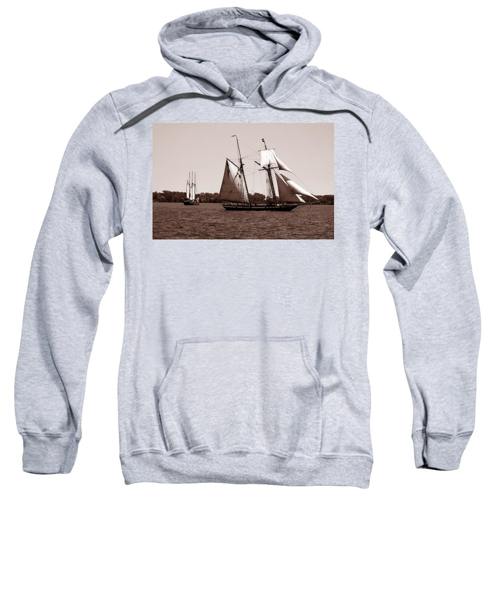 Tallship Sweatshirt featuring the photograph Tall Ships 3 by Andrew Fare