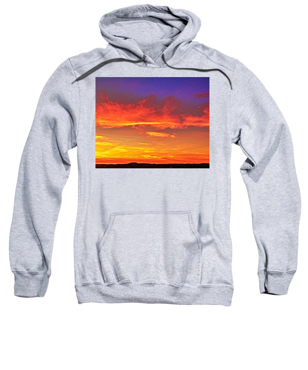 Taos Sweatshirt featuring the photograph Taos Sunset Xxxx by Charles Muhle